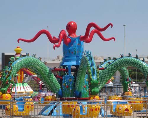 Купить аттракцион карусель осьминог цена недорогая из Китая