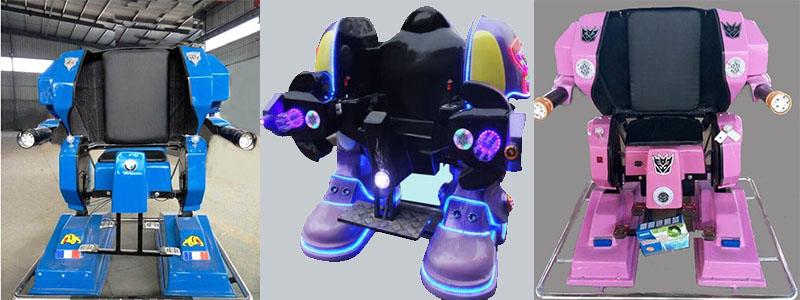 Купить детский аттракцион робот из Китая