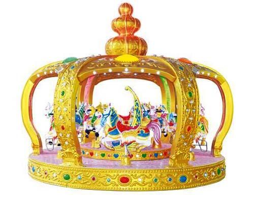 Купить аттракцион карусель Корона для торгового центра