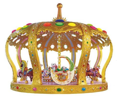 Купить аттракцион карусель Корона для парка